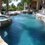 Contemporary Pool by Landmark Pools